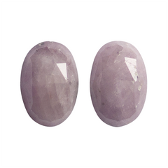 1.31 Purplish-Pink Oval Rose-Cut Greenland Sapphire Pair - Fairtrade Jewellery Co.