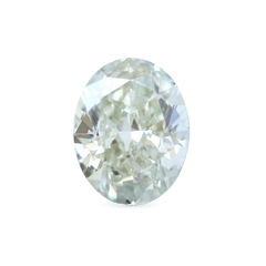 1.00 Green Mist Oval Modified Brilliant Laboratory Grown Diamond
