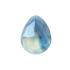 1.07 Blue and Yellow Pear Rose Cut Australian Sapphire