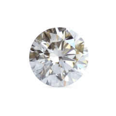 1.34 Russet Yellow Round Brilliant Lab Grown Diamond