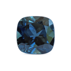 1.37 ct Greenish Blue Cushion Modified Brilliant Australian Sapphire