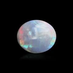 1.60 Semi Black Oval Opal Cabochon