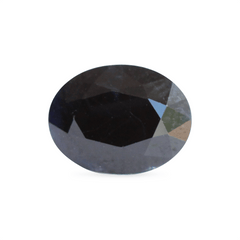 1.62 Blackish Blue Oval Mixed Cut Sapphire