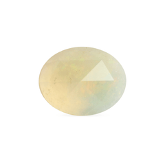 1.66 Yellowish Colourplay Oval Rose Cut Jelly Opal