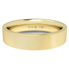18K Fairtrade or Fairmined Certified Gold 4mm Wide Flat Band