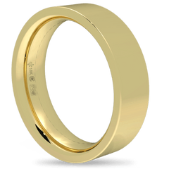 18K Fairtrade or Fairmined Certified Gold 5mm Wide Flat Band