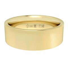 18K Fairtrade or Fairmined Certified Gold 6mm Wide Flat Band