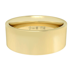 18K Fairtrade or Fairmined Certified Gold 7mm Wide Flat Band