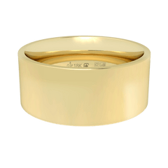 18K Fairtrade or Fairmined Certified Gold 8mm Wide Flat Band