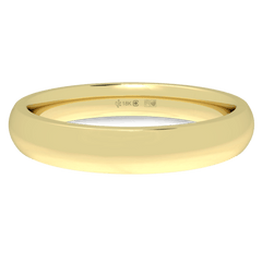 18K Fairtrade or Fairmined Certified Gold 3mm Wide Low Dome Band