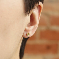 Hexa Studs in Yellow