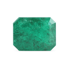 2.35 Green Salt & Pepper Emerald-Cut Mined Emerald