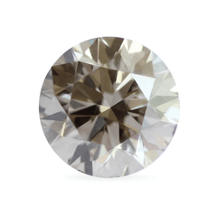 2.55 Obsidian Brown Round Brilliant-Cut Lab-Grown Diamond