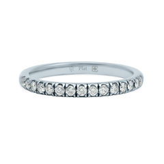 2mm Wide Platinum Stacker with Ideal-Cut, D Colour, Internally Flawless Diamonds