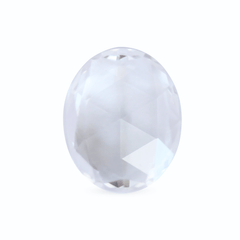 2.31 Colourless Oval Rose Cut Chatham Grown Sapphire