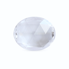 2.31 Colourless Oval Rose Cut Chatham Grown Sapphire - Fairtrade Jewellery Co.