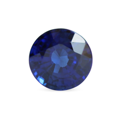 2.38 Dark Blue Round Mixed Cut Laboratory Grown Sapphire