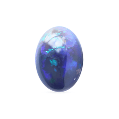 2.43 Black Colour Play Oval Cabochon Opal