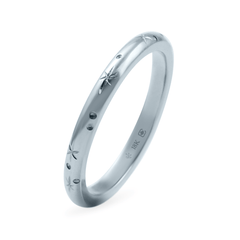 2 mm Star Engraved Band