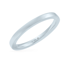 Platinum 2mm Wide Flat Band