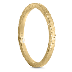 18K 2mm Fairtrade/Fairmined Roucheux Finish Band