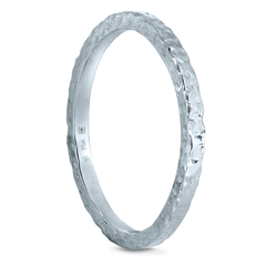 2 mm Platinum Rocheux Finish Band