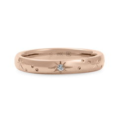 3 mm Star Engraved Band