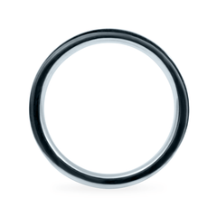 Platinum 3mm Wide Flat Band