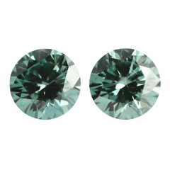 4 mm Pistachio Green Round Swarovski Diamond Pair