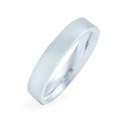 Platinum 4mm Wide Flat Band