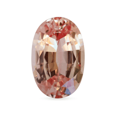 5.48 Padparadscha Colour Oval Mixed-Cut Chatham Created Sapphire