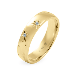5 mm Star Engraved Band