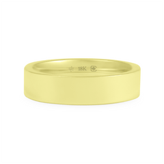 18K 5mm Wide Flat Band