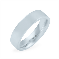 Platinum 5mm Wide Flat Band