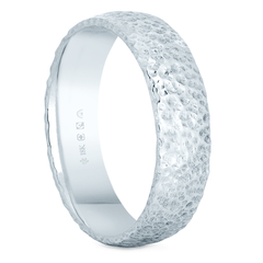 18K Fairtrade or Fairmined 5mm Wide Roucheux Finish Band