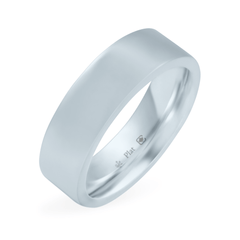 Platinum 6mm Wide Flat Band - Fairtrade Jewellery Co.