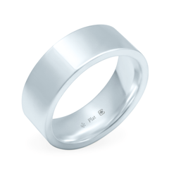 Platinum 7mm Wide Flat Band