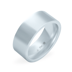 Platinum 8mm Wide Flat Band
