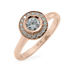 FTJCo Love Note Bezel Halo set with Swarovski Diamonds