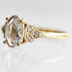 Oval Rose-Cut Frances in Yellow Gold