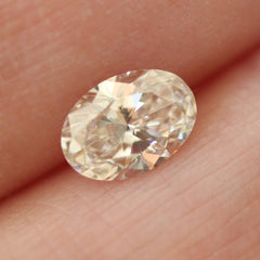 0.78 Oval K SI1 Lab Grown Diamond