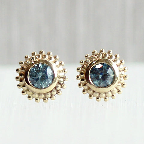 9ee686312fd2d Dahlia Stud Earrings in Yellow with Montana Sapphires