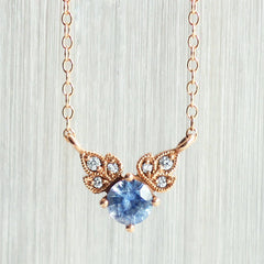 Frances Pendant with Water Blue Akara Sapphire