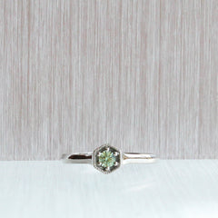 Hexa Solitaire with Green Sapphire