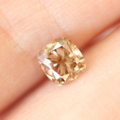 0.55 ct Terracotta Brown Cushion Lab Diamond - Fairtrade Jewellery Co.
