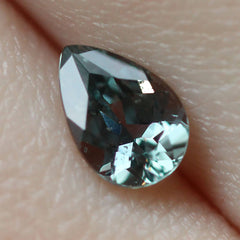 0.83 Raven Grey with Green Tone Pear Modified Brilliant Cut Montana Sapphire