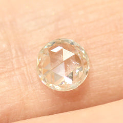 0.61 Round Rose-Cut Nouveau H SI1 Vintage Diamond
