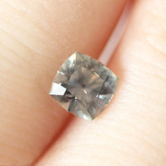 1.09 Heather Grey Cushion-Cut Montana Sapphire