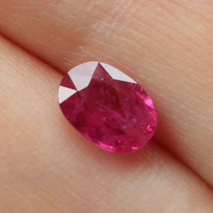 1.06 Medium Fuchsia Oval Mixed Cut Akara Ruby