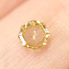 0.53 Jasmine Yellow Octagon Rose-Cut Lab Diamond